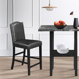 5 Piece Dining Set with Matching Chairs and Bottom Shelf