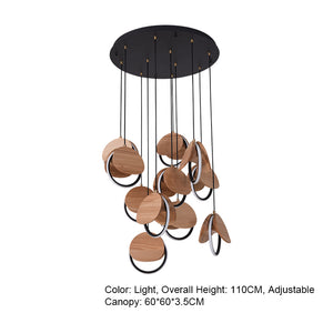 Double Moon Pendant Light