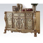 Dresden Dresser in Gold Patina and Bone