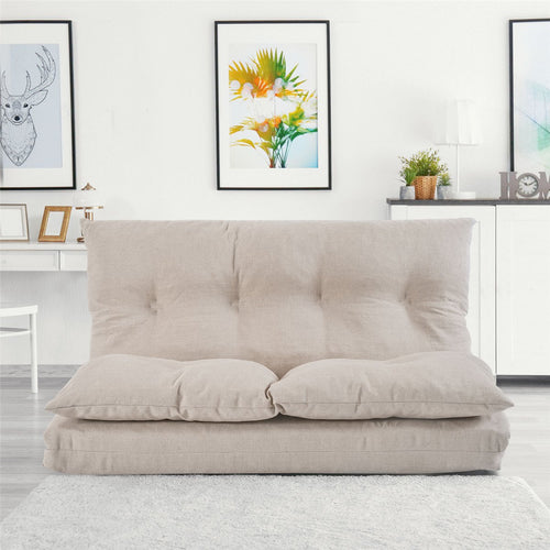 Fabric Chaise Lounge Folding Sofa