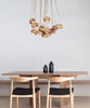 Flower Wooden Chandelier Light Fixture