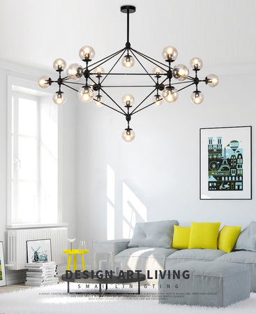 Glass Molecular Chandelier