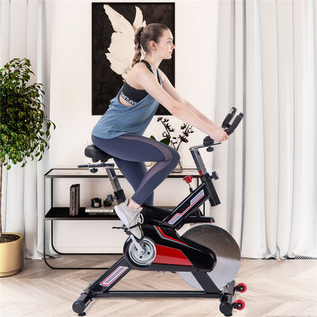 Indoor Cycling Exercise Bike Belt Drive Stationary Bicycle