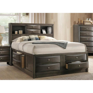 Ireland Queen Bed in Gray Oak