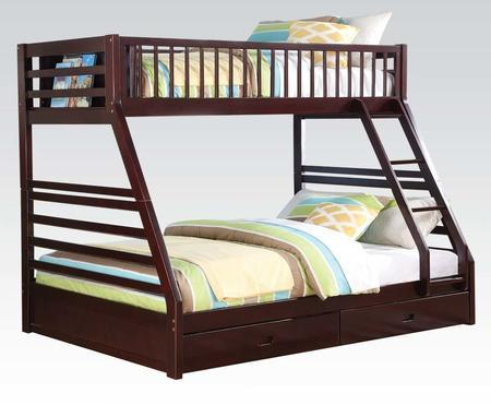 Jason Bunk Bed Twin XL Queen in Espresso
