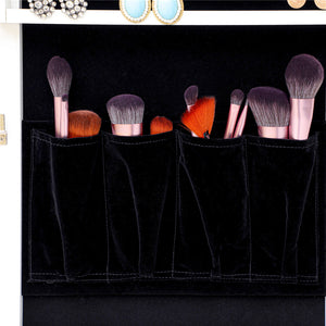 Jewelry Storage Mirror Cabinet in Brown With LED Lights