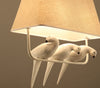 Linen Art Bird Chandelier