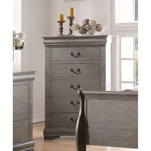 Louis Philippe Chest in Antique Gray
