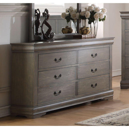 Louis Philippe Dresser in Antique Gray