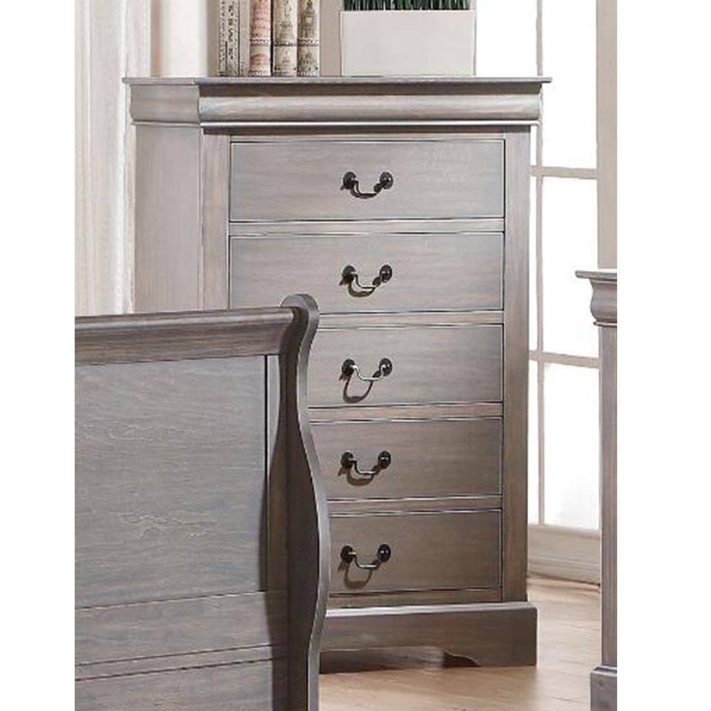 Louis Philippe III Chest in Antique Gray