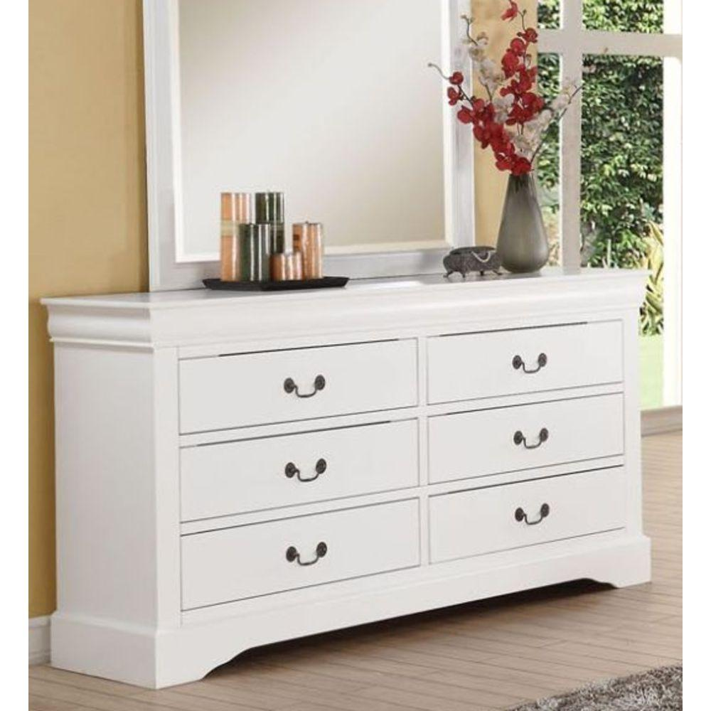 Louis Philippe III Dresser in White