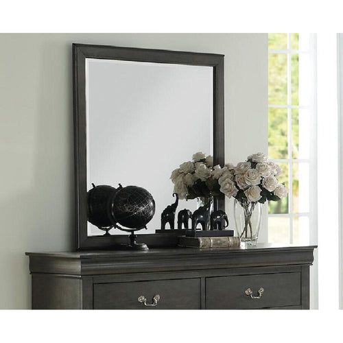 Louis Philippe Mirror in Dark Gray