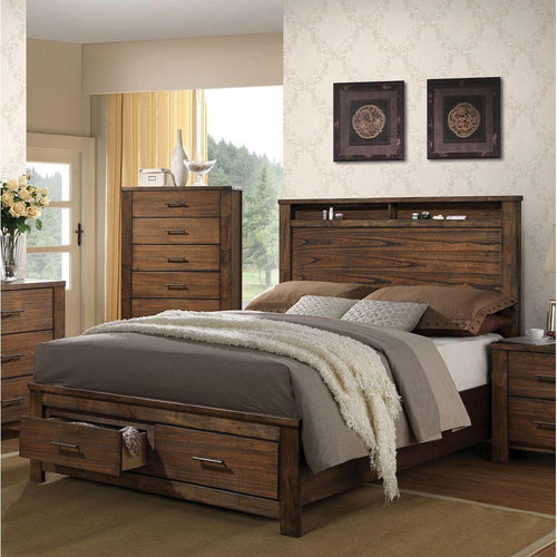 Merrilee Queen Bed in Oak