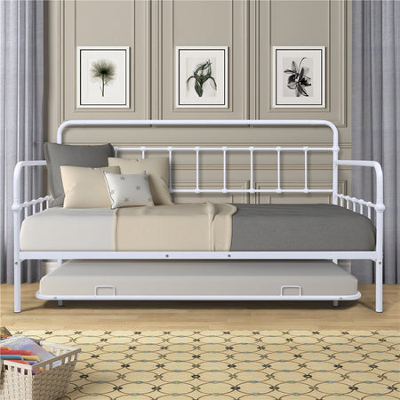 Metal Frame Daybed with Trundle