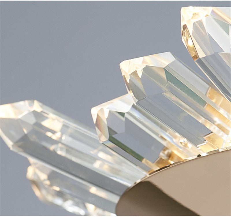 Modern Crystal Polygonal Chandelier