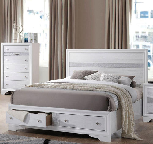 Naima Eastern King Bed in White