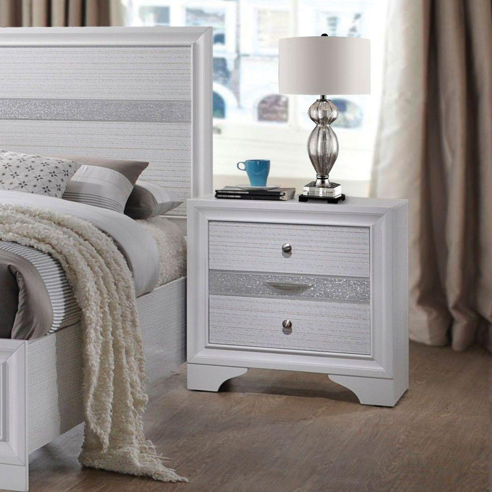 Naima Nightstand in White