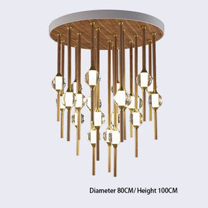 Night Dew Wooden Chandelier Light Fixture