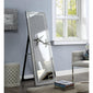 Nowles Accent Mirror Floor in Mirrored and Faux Stones
