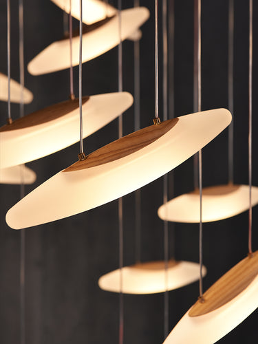 Postmodern Luxury Wooden Chandelier