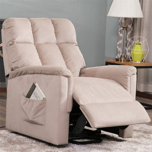Power Lift Chair Soft Fabric Recliner Lounge Living Room Sofa with Remote Control