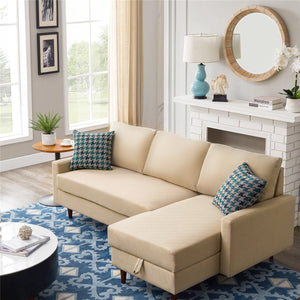 Pull out Sleeper Sectional Sofa