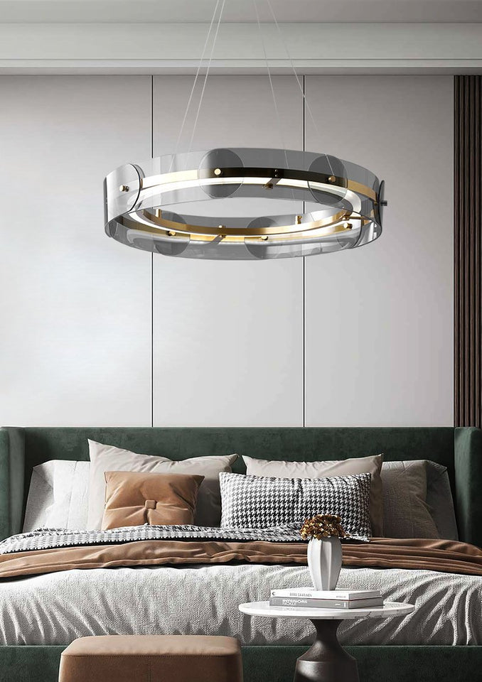 Round Glass Pendant Light