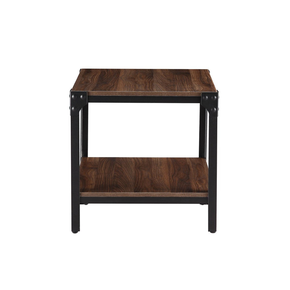 Rustic Farmhouse Square Wood Side End Accent Table Living Room