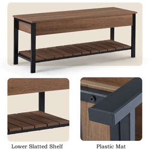Shoe Bench with Storage Shelf Versatile Storage Bench | Ideal for Hallways