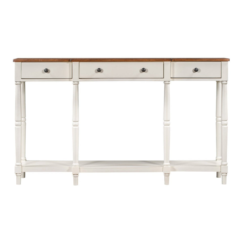 Solid Wood Console Table in White