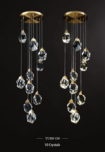 Staircase Raindrop Crystal Pendant Light