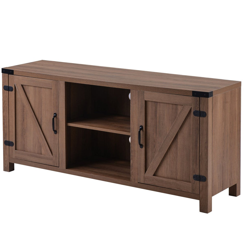 "Farmhouse 58"" TV Stand Media Console with Adjustable Shelves 