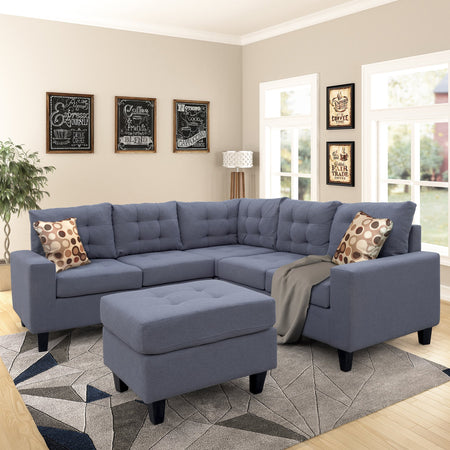 Symmetrical Sectioanl Sofa with Ottoman