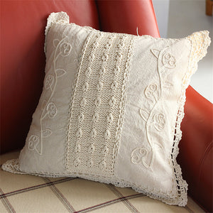 Vintage Cotton Linen Woven Pillow