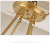 Warm Antique Brass Ring Chandelier