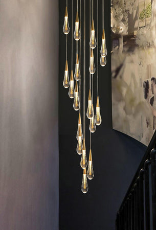 Waterdrop Crystal Pendant Light