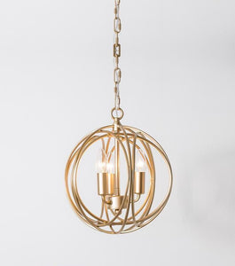 Wrought Iron Cage Lamp