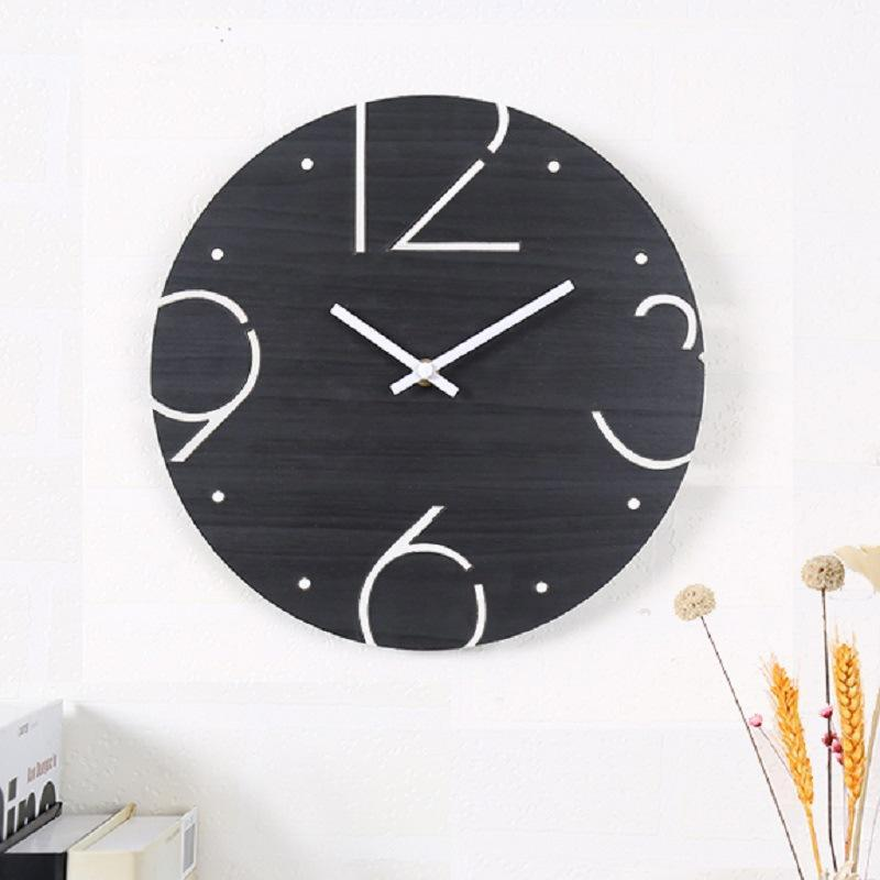 Number Hollow Out Wooden Clock