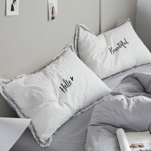 Embroidered 100% Cotton Pillowcase