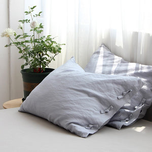 Cotton Linen Bow-knot Pillow Cover