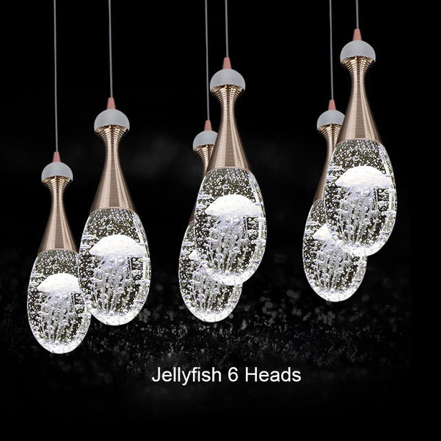 Crystal Bubble Jellyfish Chandelier