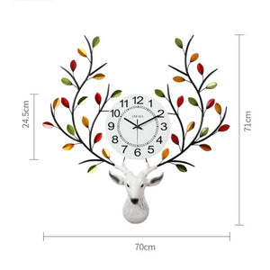 Europe Deer Head Wall Clock