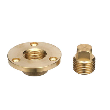 DRAIN PLUG GARBOARD 1/2 INCH NPT COMPLETE ASSEMBLY BRONZE
