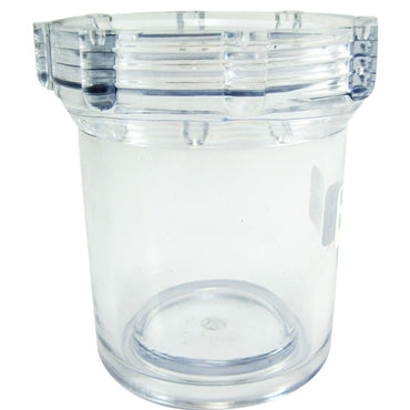 SEA STRAINER BOWL CLEAR REPLACEMENT SHERWOOD STRAINER FITS 1/2  AND 3/4 INCH NPT