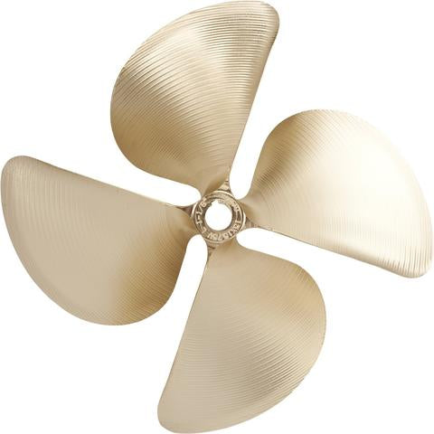 "# 2949 ACME 4 BLADE PROPELLER 1-1/8"" BORE LEFT HAND 15.00 X 11.00 CUP .105"