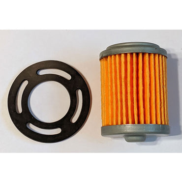 Replacement fuel filter for Mercruiser & OMC inline 4 & 6 cylinder marine engines with Carter mechanical fuel pumps.