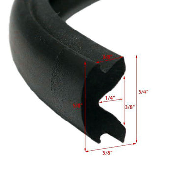 "RUB RAIL INSERT 3/4"" X 50 FEET BLACK FLEXIBLE BY TACO"