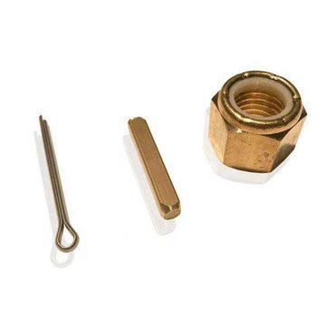 Nylock Prop Nut Kit Brass For 1-1/4 Shafts With Key And Cotter Pin OJ-3123B