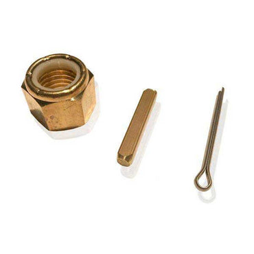 "Nylock Prop Nut Kit Brass For 1"" or 1-1/8 Shafts With Key And Cotter Pin OJ-3131B"