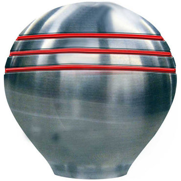 Shift Knob Stainless 316 With Ongaro Red Grooves Schmitt & Ongaro 40098191